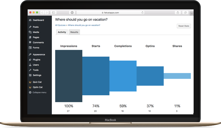 wordpress quiz analytics